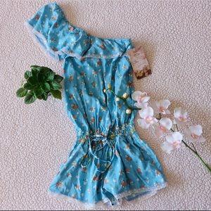 New Zara Floral Romper Size Small